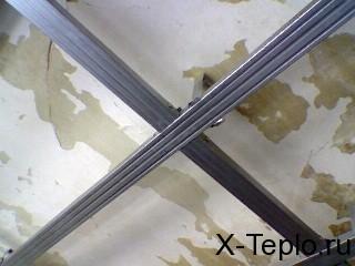 изоляция потолка и обшивка гипсокартоном
