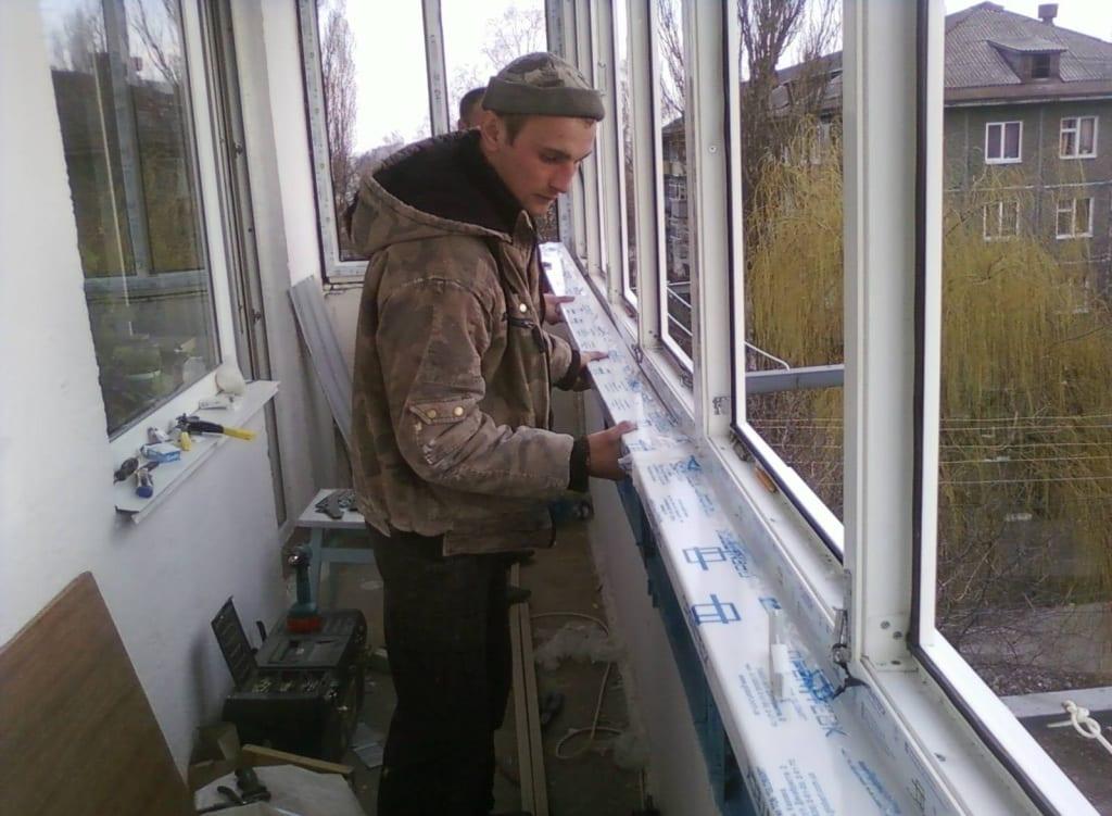 Утепление балкона снаружи, технология теплоизоляции лоджии с.