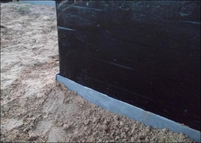 Засыпка фундамента песком