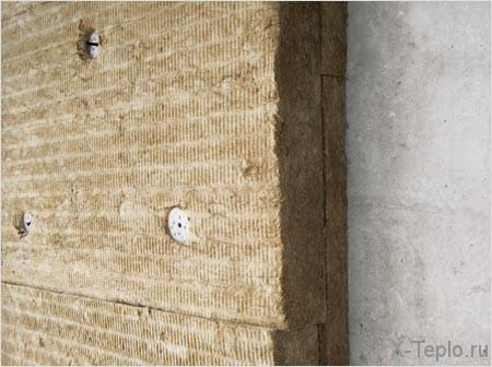 Минеральная вата популярна при утеплении фасадов