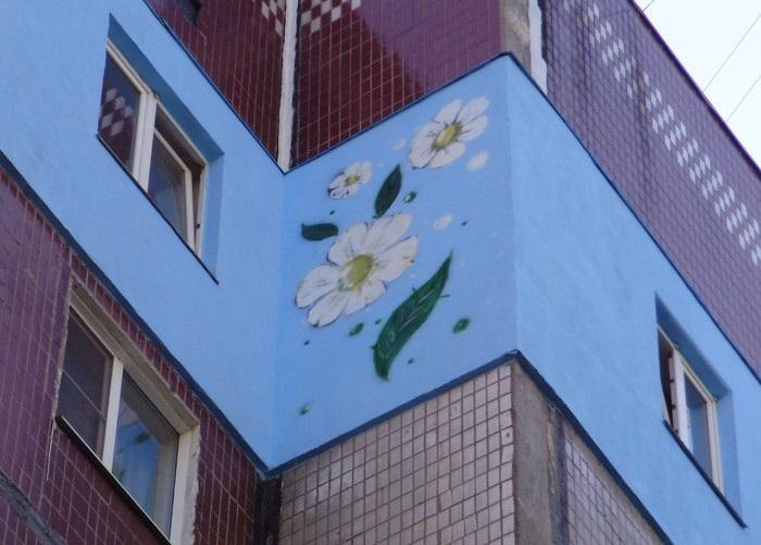 Утеплитель на стене многоэтажки