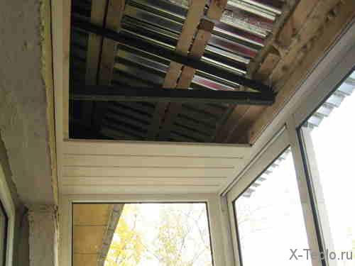 Финишная отделка крыши балкона
