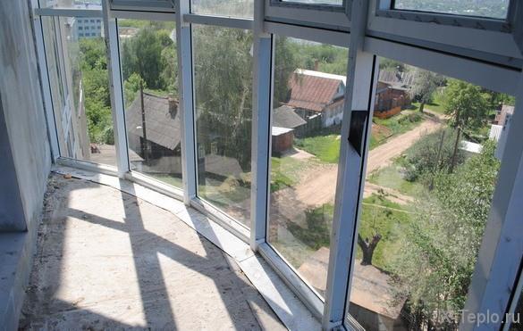 Zahrievanie balkónového skla