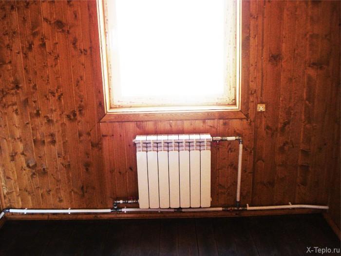 Схема котел теплый пол