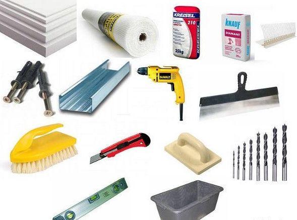 Материалы, инструменты для утепления