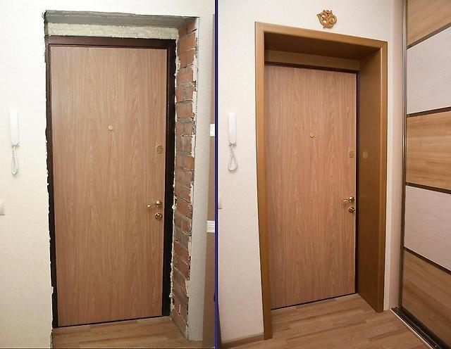 откосы для металлических дверей