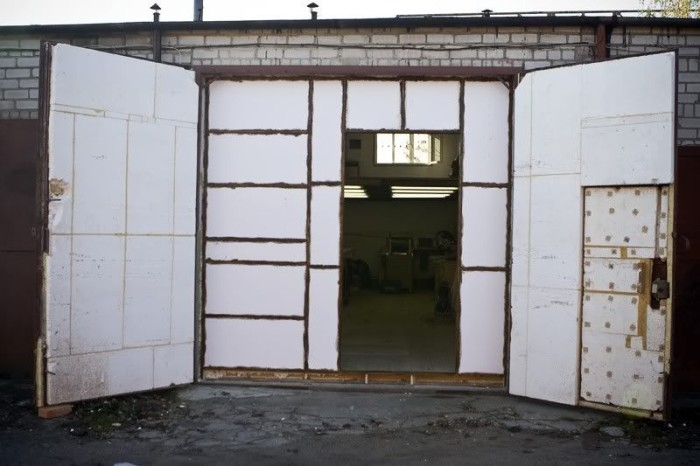 утепление гаражных ворот своими руками автоматических