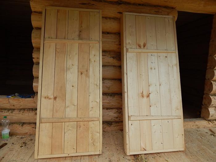 Деревянная дверь для сарая своими руками