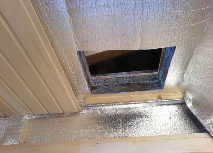 Как утеплить потолок снаружи в бане своими руками 38