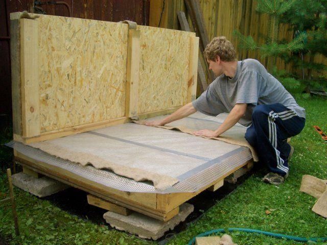 Как сделать полы в будке