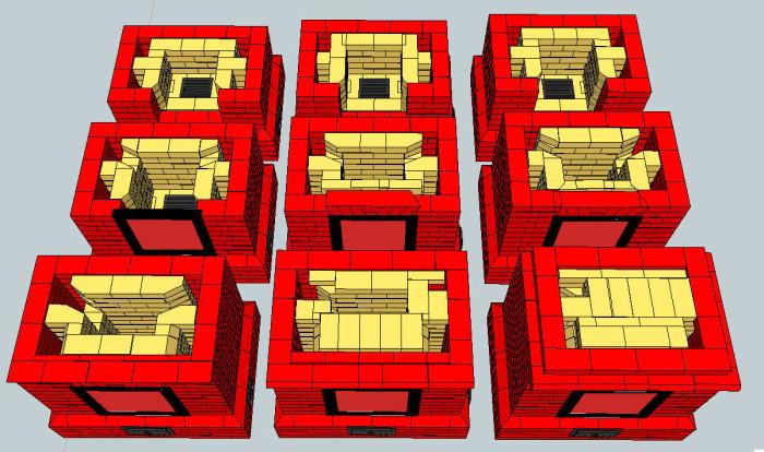 Модели печей для дома из кирпича