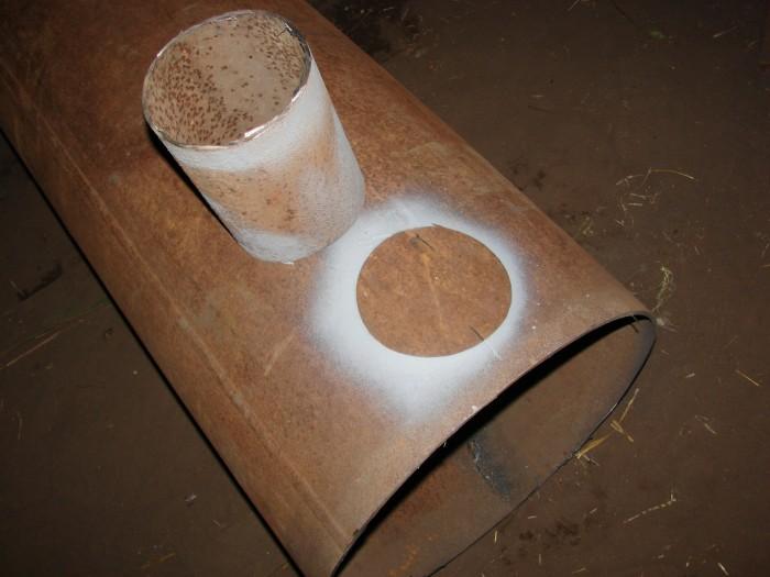 Печь для гаража из трубы 500 мм своими руками 50