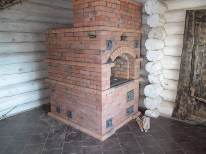 Проекты печей из кирпича для дома