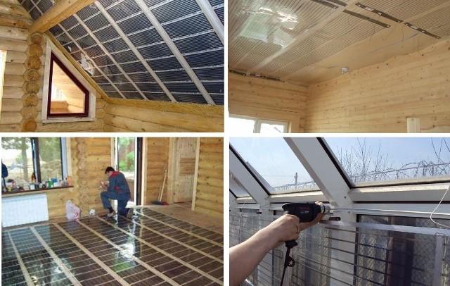 Как сделать тёплые потолки 850