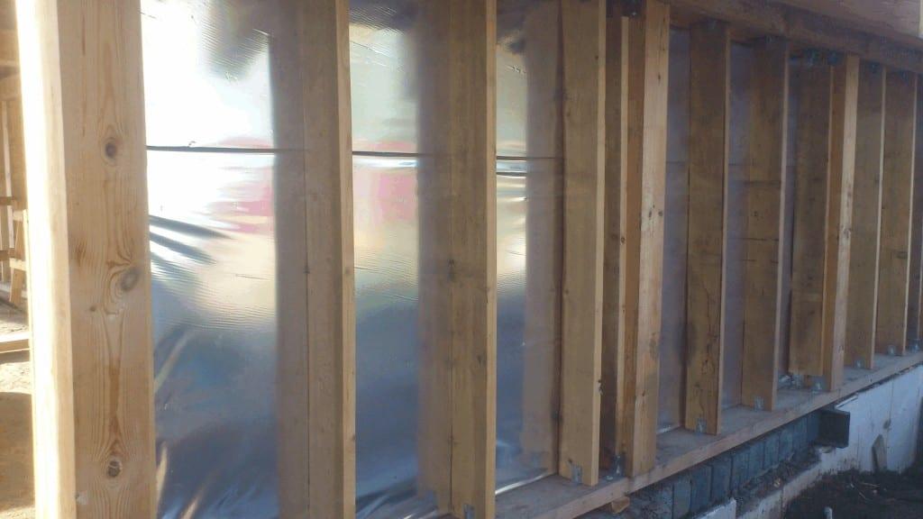 Утепление стен каркасного дома пенопластом своими руками 75