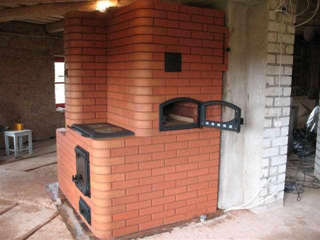 Печка с камином фото