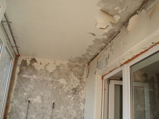 Подготовка поверхности балкона