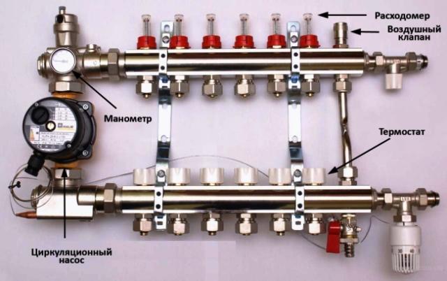 Схема подключения водяного тёплого пола фото 619