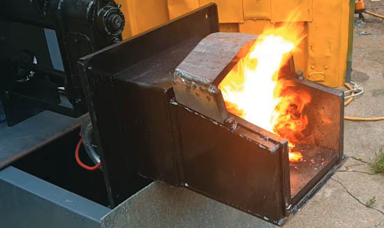 Эффективная горелка для сжигания пеллет