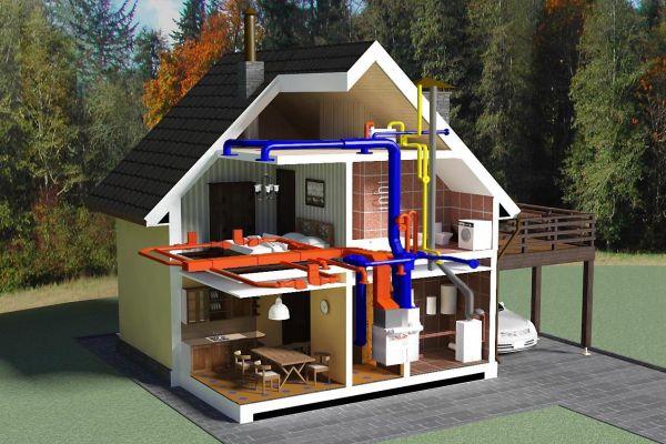 Воздушное отопление частного дома своими руками. Особенности, проектирование, установка