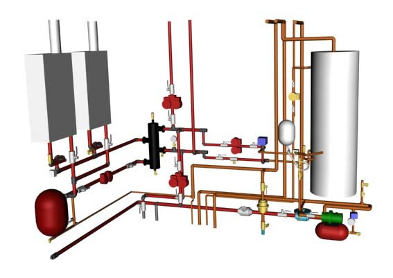 Гидравлический расчет системы отопления  расчет по площади
