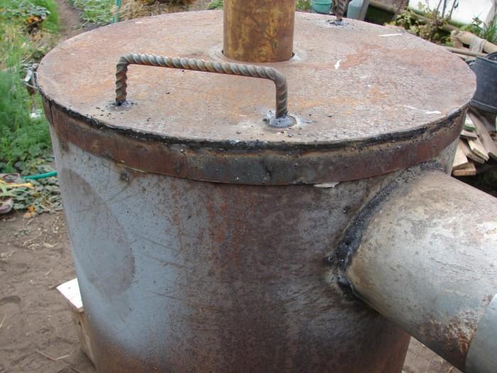 Печь для сжигания опилок своими руками