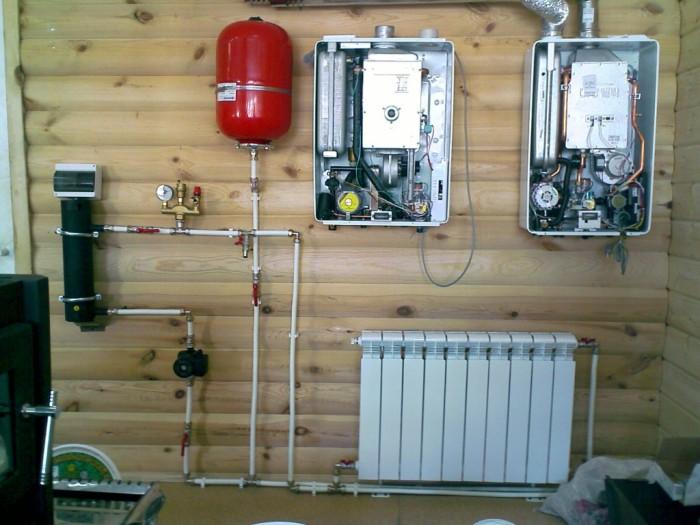 Система отопления в деревенском доме